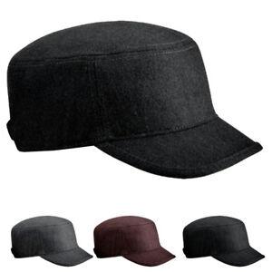 031204e17c7 Details about BNWT Army Military Cadet Plain Melton Wool Hat Cap Graphite  Black