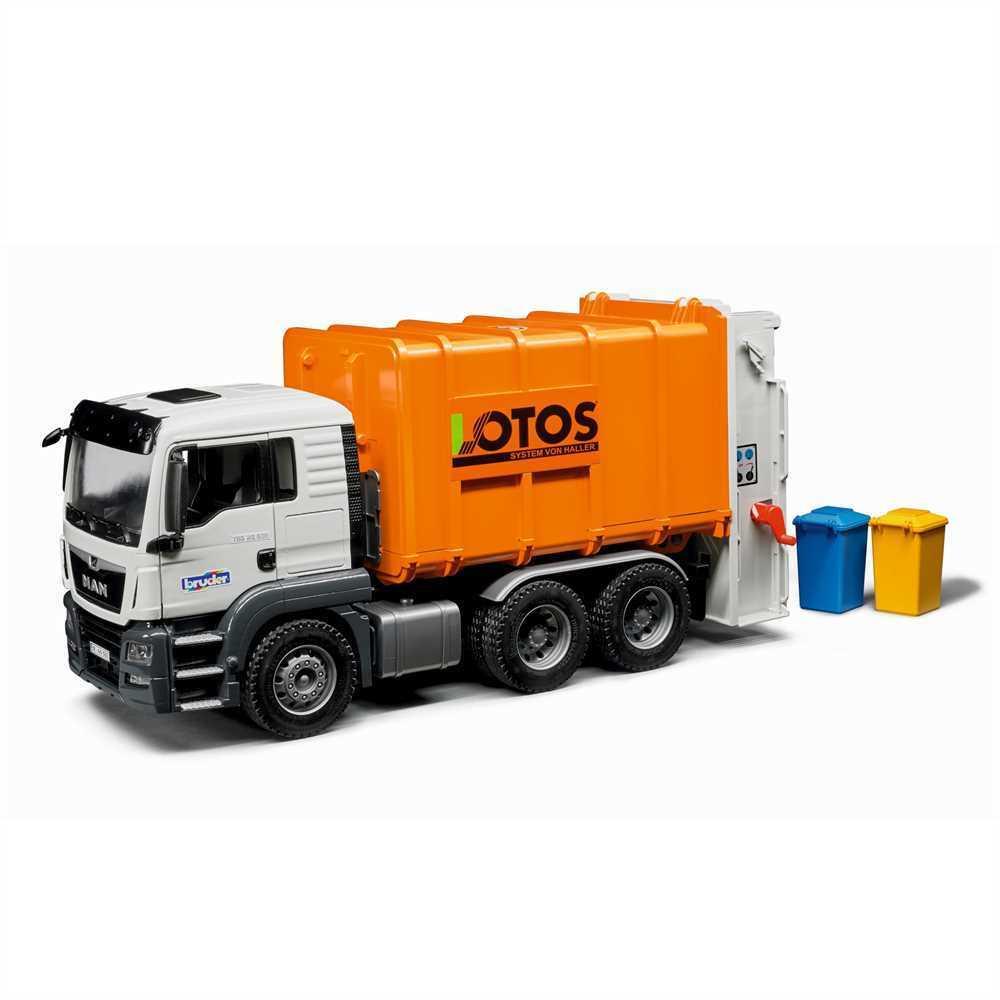 Bruder MAN TGS Müll LKW Hecklader Orange - 03762