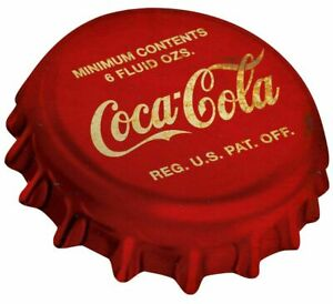 COCA-COLA-RED-WHITE-BOTTLE-CAP-HEAVY-DUTY-USA-MADE-METAL-SODA-ADVERTISING-SIGN