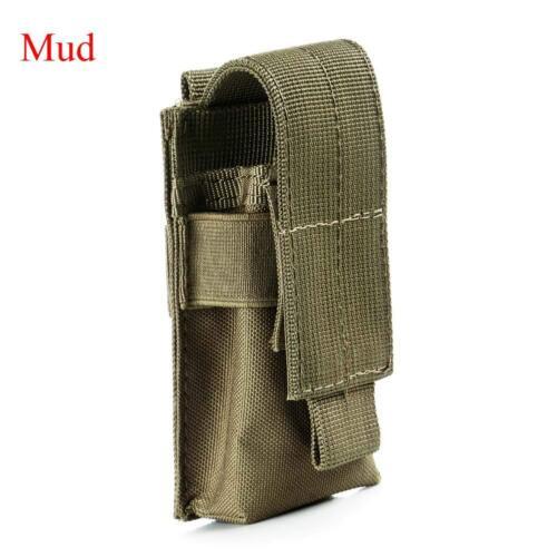 13cm Tactical Military Flashlight LED Torch Belt Holster Case Pouch Bag Holder