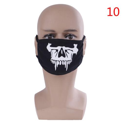 1pcs unisex anti-dust cotton face masks pattern solid black warm  mask half·face