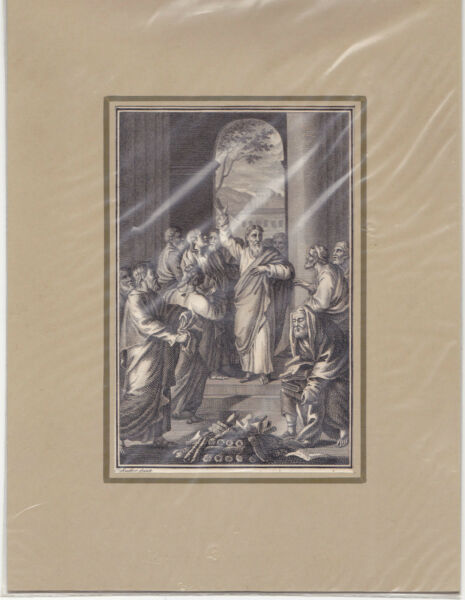 """""""sie Brachten Ihre Bücher Und Verbrannten Sie"""" Kst. Von Schuler Bei Herder 1790"""