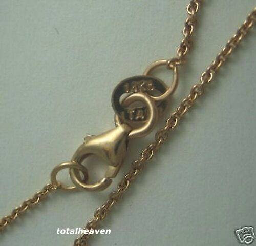"""Gold Chain 1.7g Tiff Cable Link 16/"""" Italian Solid 14K Pink Rose"""
