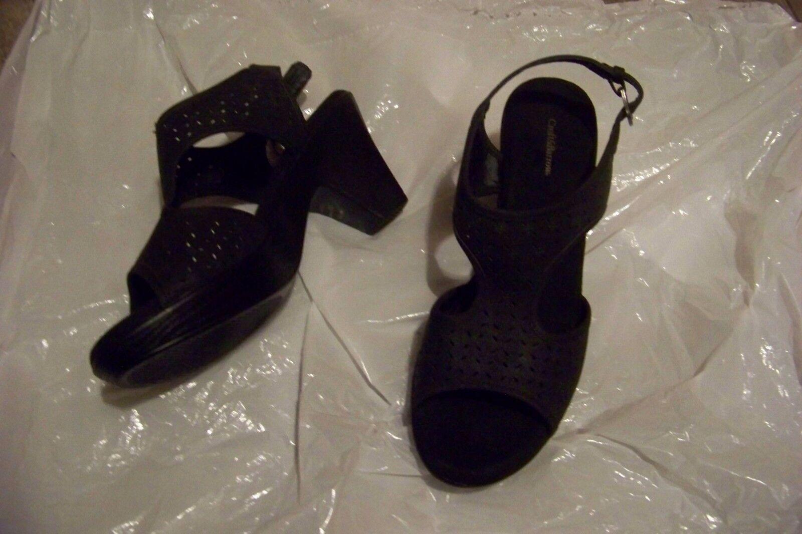 womens croft t-strap & barrow eden black t-strap croft heels shoes size 10 54b485