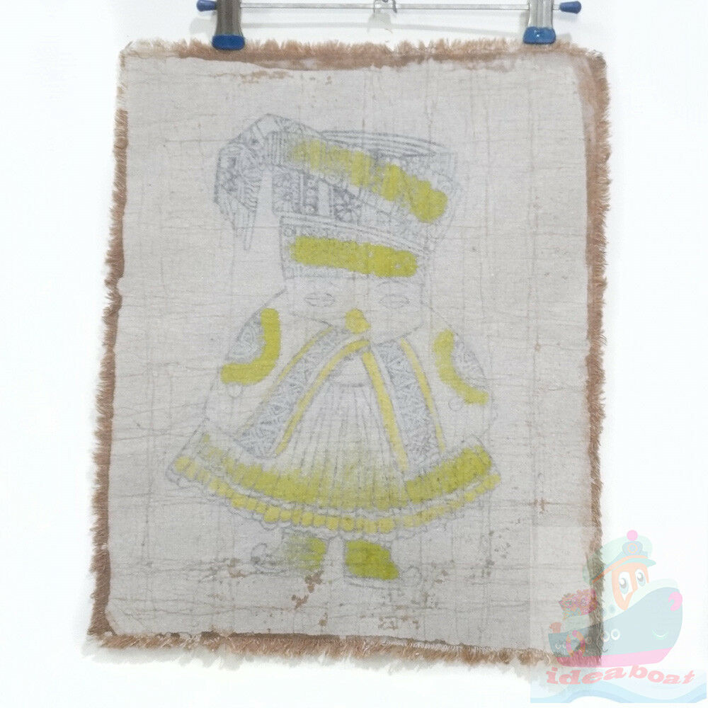 Chinese Folk Art Handmade Wall Hanging Batik Tapestry The Yi Minority Boy