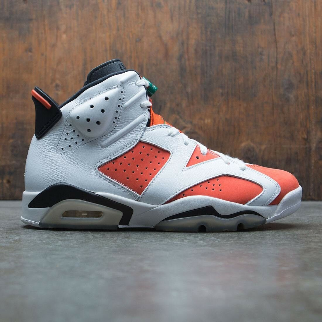 Nike Air Jordan 6 VI Retro White orange Be Like Mike Size 8. 384664-145 1 2 3
