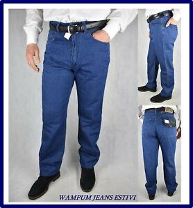 wampum-jeans-da-uomo-estivi-leggeri-regular-fit-vita-alta-blu-taglie-forti-58-60