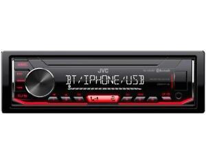 Autoradio-JVC-KD-X352BT-MP3-AUX-IN-USB-illuminazione-Rosso-BLUETOOTH