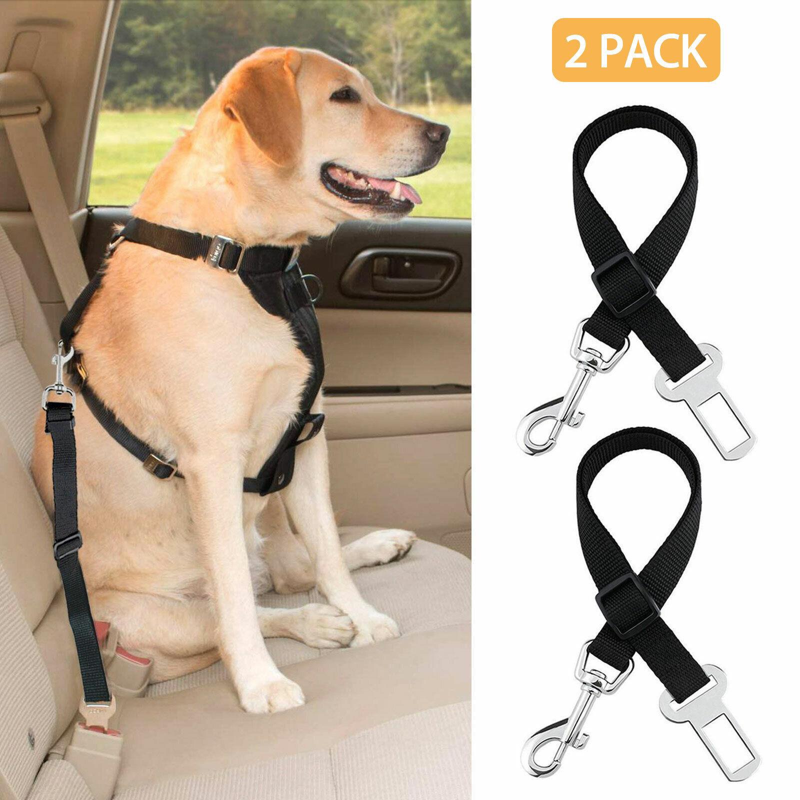 2X Cat Dog Pet Safety Seatbelt Car Vehicle Adjustable Seat B