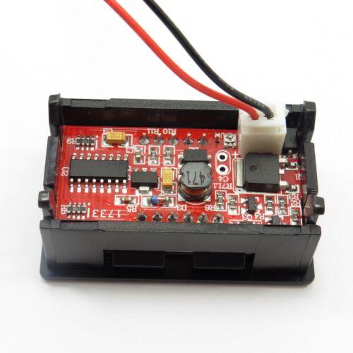 """DC 7V-150V Voltmètre DEL 0.56/"""" 2 Fil Vert affichage numérique voltmètre Volt"""