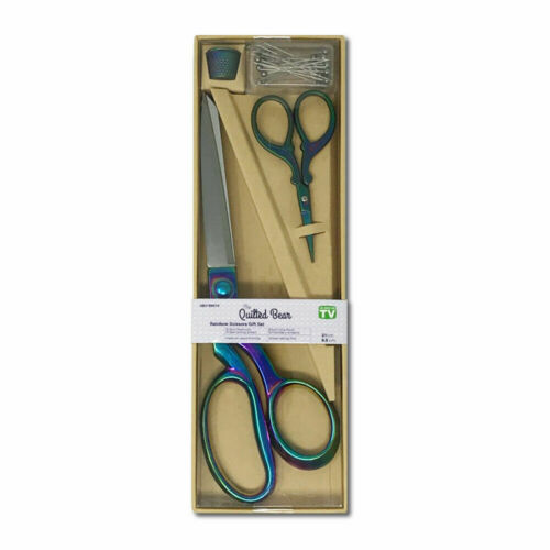 Premium Dressmaking Shears Embroidery Craft Scissors Thimble /& Pins Gift Set