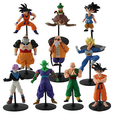 Japanese Anime Dragon Ball Z Characters PVC Figures Set Of 10pcs