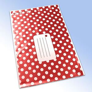 1-Red-Polka-Dot-Printed-Self-Seal-Plastic-Mailing-Bag-161x240mm-6-5x9-034