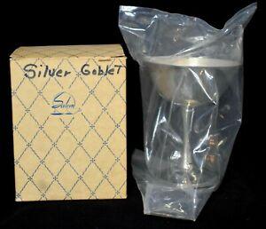 Vtg-Silver-Plated-Goblet-Sealed-original-box-Salem-China-Co-Made-in-Portugal