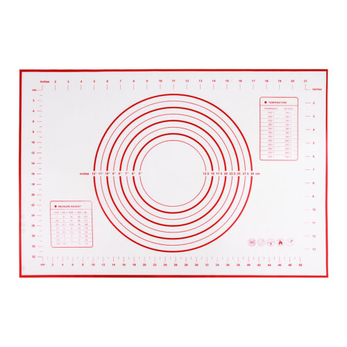 Kitchen Silicone Dough Rolling Mat Baking Pastry Clay Pad Sheet Liner Tool-la