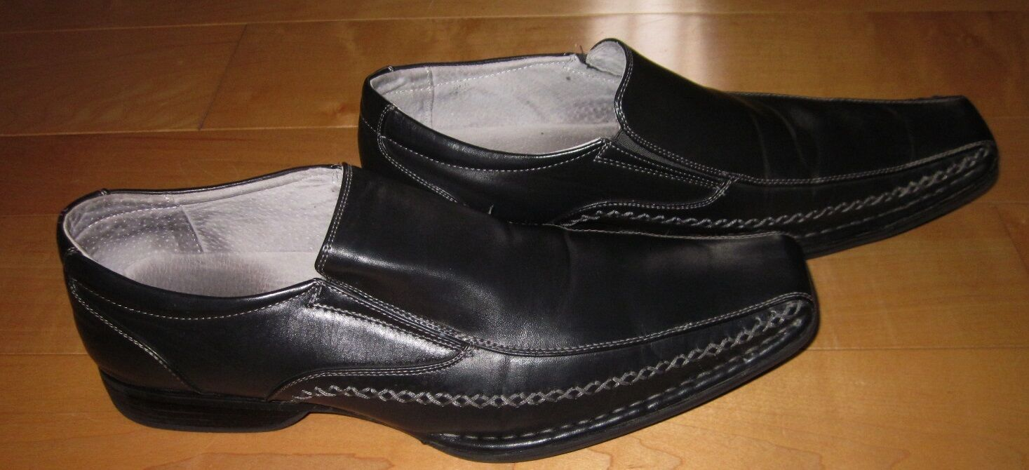 Madden Mens Black Loafers Slip Ons Trace 11 M SHARP