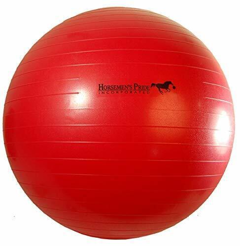 Horsemen/'s Pride 25-Inch Mega Ball for Horses Red