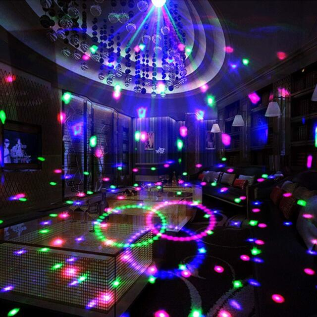 Party Lights Disco Ball Sound Activated