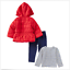 NEW-Little-Me-Girls-3-Piece-Jacket-Top-Pant-Outfit-Set-Red-Different-Sizes thumbnail 2