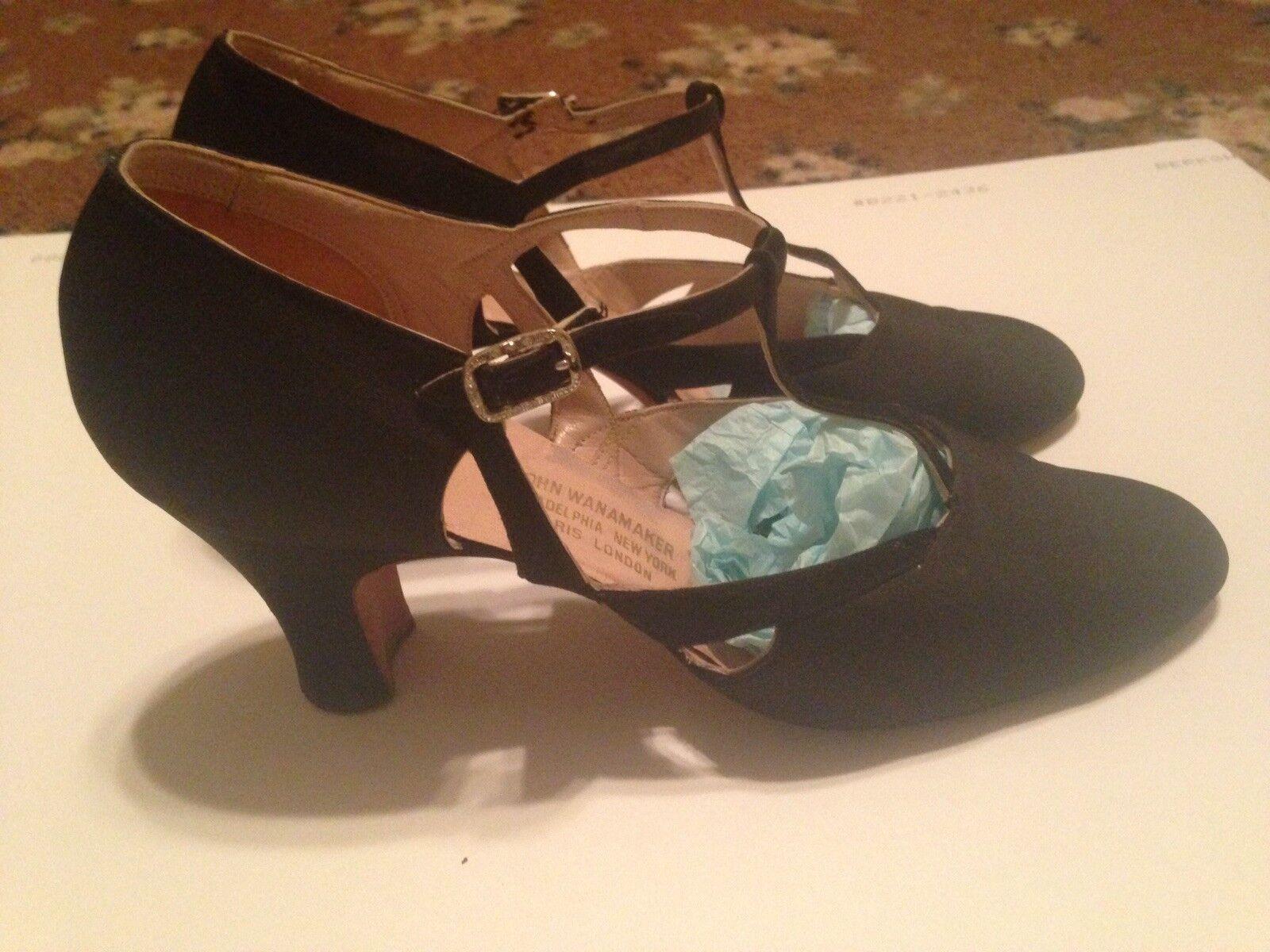 Vintage Elegant Satin  T Strap Evening  High Heels