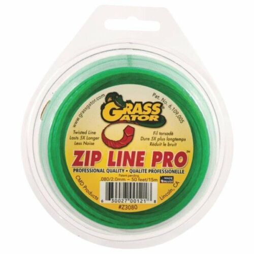 """6 Pk Grass Gator Zip Line Pro Green .08/"""" Dia Lawn Weed Trimmer Line Z3080L"""