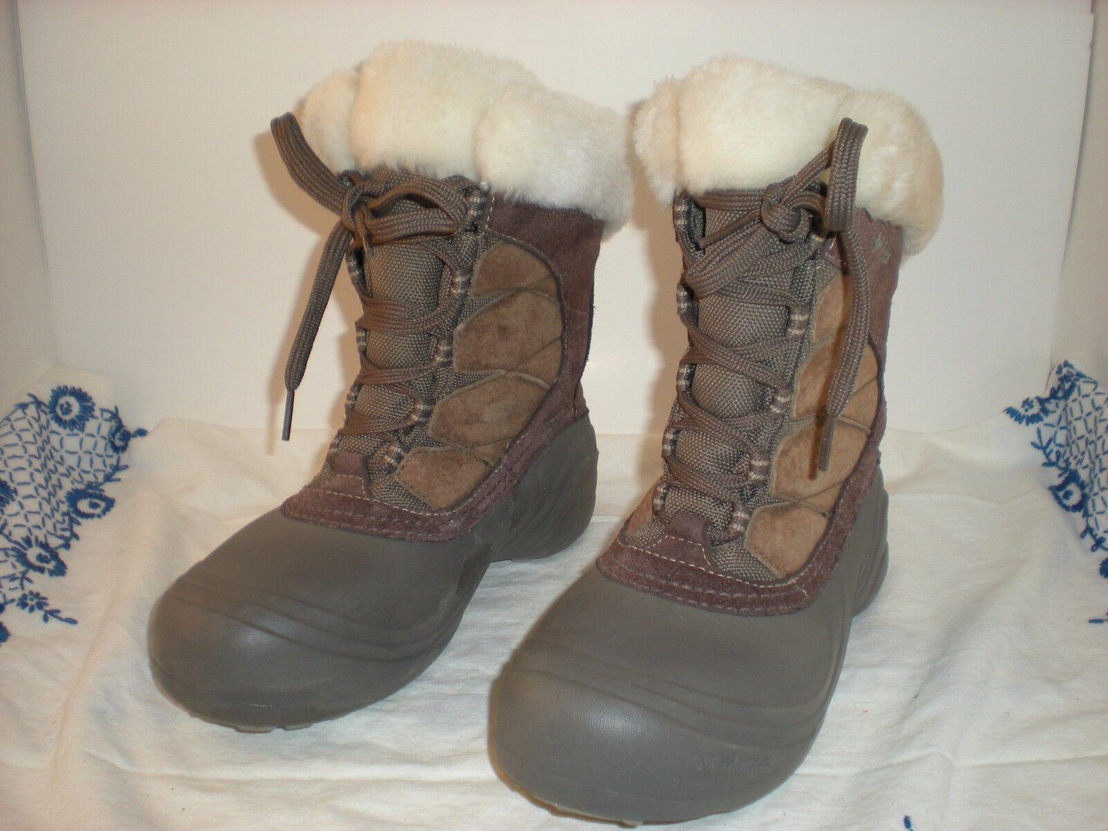 EUC Columbia Sierra Summet 2 Winter Stiefel with Thermolite Größe 6 BL1371-255