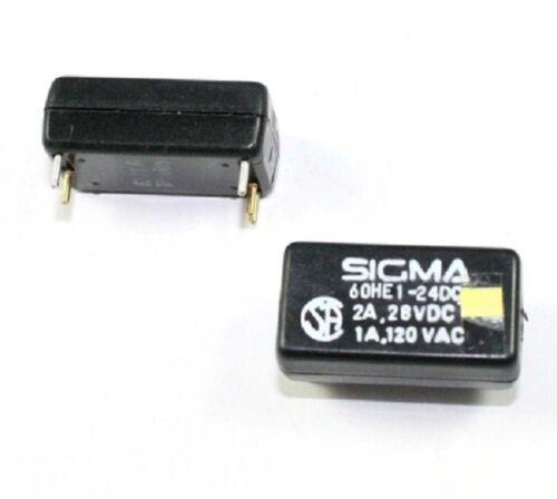 28V PCB mount 120VAC-1A 24VDC coil SPDT 97B002 Sigma # 60HE1-24DC Relay