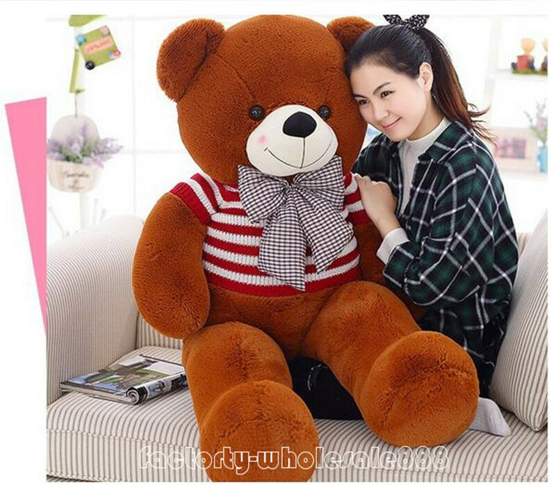63'' GIANT HUGE TEDDY BEAR PLUSH SOFT TOYS DOLL Valentine GIFT with sweater