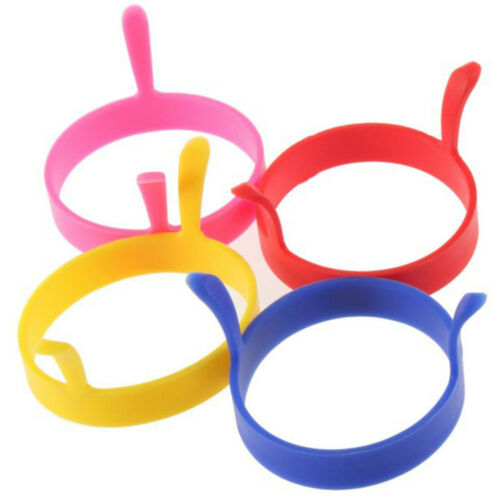 Silicone Round Egg Rings Pancake Mold Ring Handles Nonstick Fried Frying