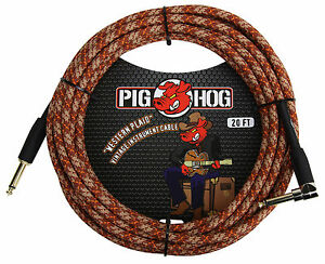 "Pig Hog Pch20cpr ""western Plaid"" Instrument Cable-afficher Le Titre D'origine"