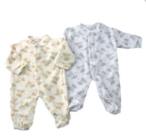 Baby Full Print Teddy Bear Velour Sleepsuit by Aardvark