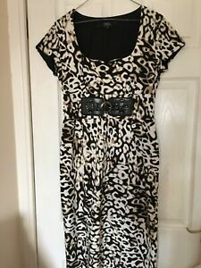 Star-by-Julien-Macdonald-animal-print-wiggle-dress-immaculate-Size-12