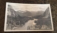 Vintage Postcard Unposted B&W RP Bow Valley Banff Canada Railway Line