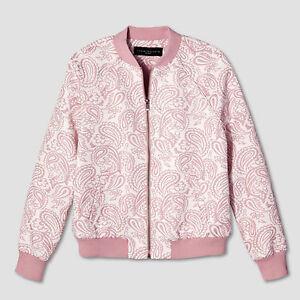 Plus Blomster Jacquard Bomber Blush Target 1x Victoria New Beckham Jacket Nwt nfBSRzqR