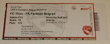 ticket for collectors EL FC Thun Partizan Beograd 2013 Switzerland Serbia