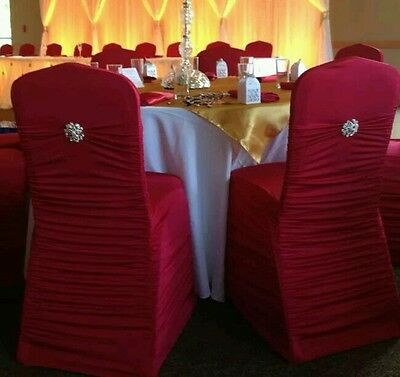 Wedding or special occasion chair covers (130 covers and 130 brooches)