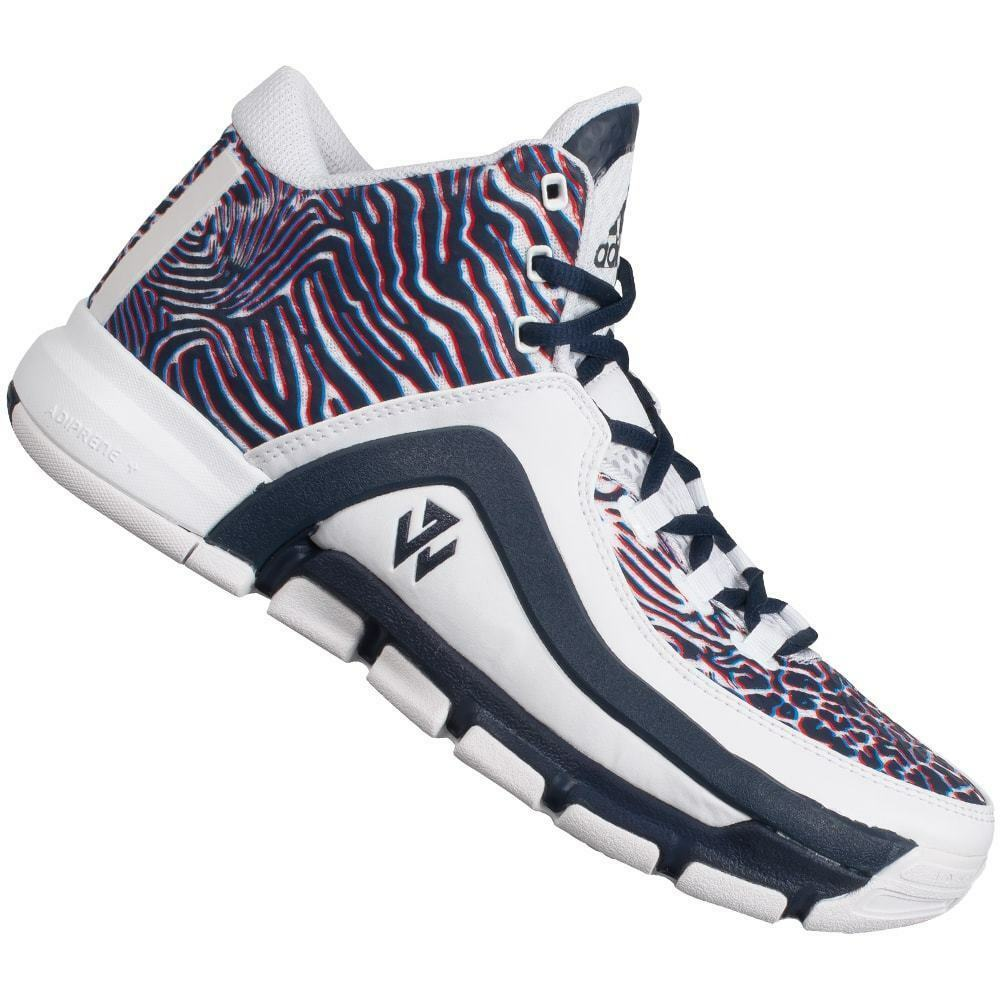 NEW SZ 12.5 ADIDAS Men's John Wall 2 Print Basketball shoes White Navy