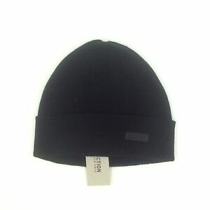 Details about  100 KENNETH COLE REACTION Men UNISEX BLACK RIBBED WINTER CAP  HAT BEANIE O S 11603bf78f7