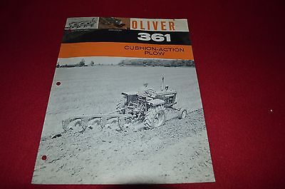 White Oliver Tractor 348 3242 Mounted Plow Dealer/'s Brochure PBPA