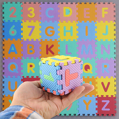 Kids Infant Mini Foam Alphabet Letters Numbers Education Mat Jigsaw Puzzle
