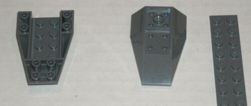 4636417 Brick 43713 2x LEGO NEW 6x4 Dark Stone Grey Wedge Triple Inverted