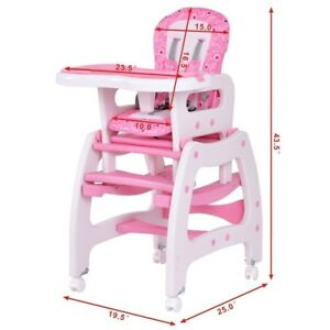 Ordinaire Details About Silla De Bebe Costway Kids High Chair For Baby Girl Booster  Seat For Table Pink