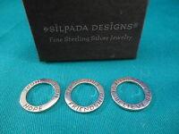 Silpada Designs Jewelry Sterling Silver Pendants Set Of 3 Retired S1622 Believe