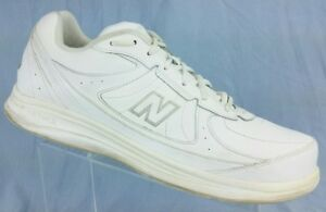 new arrivals c4088 59ddb Image is loading NEW-BALANCE-DSL2-White-Leather-Walking-Exercise-577-
