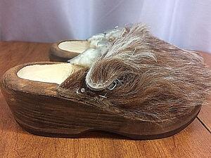 Devich Bezau Girl's Cow Wooden & Faux Fur & Shearling Clogs - EU 33 (US 2.5-3)