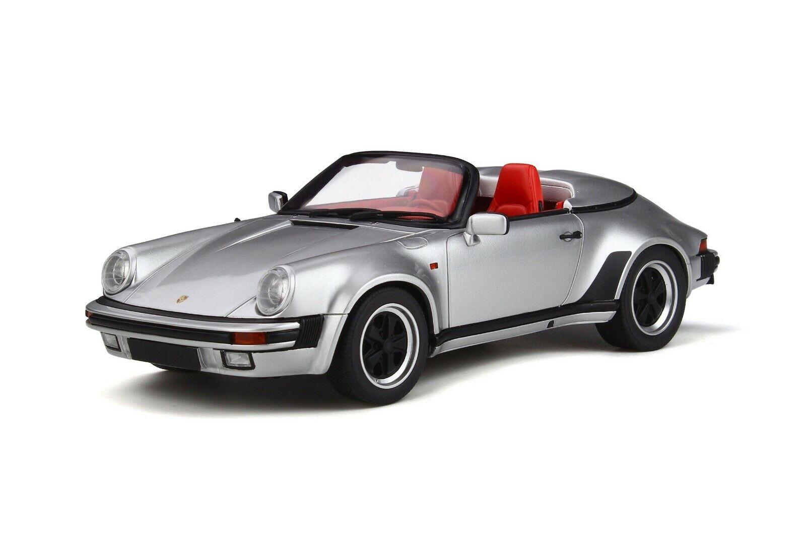 PORSCHE 911 autorera 3.2 TARGA Speedster argentoO G 1987 GT SPIRIT NUOVO nuovo 1 18