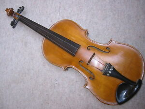 Impartial Belles Anciennes Violon Avec Einteiligem Dos Et Belle Beflammung Old Violin-afficher Le Titre D'origine