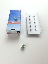 10x OSRAM 12v 2w bx8, 4d 2352mfx6 lámpara lámpara leiterplattenbau interior lámpara