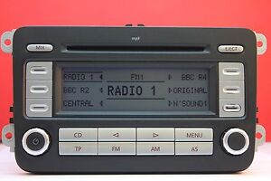 vw volkswagen rcd 300 mp3 cd radio player code golf. Black Bedroom Furniture Sets. Home Design Ideas