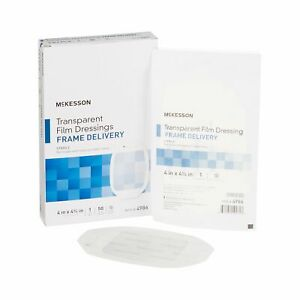 "Transparent Film Dressing McKesson Octagon 4 X 4.75"" Frame Style (Case of 200)"